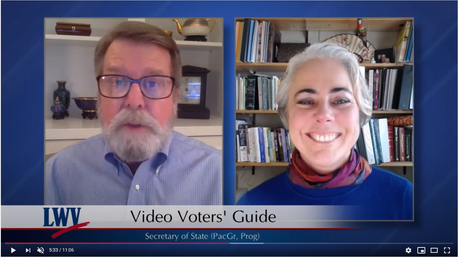 League of Women Voters Guide Video Interview