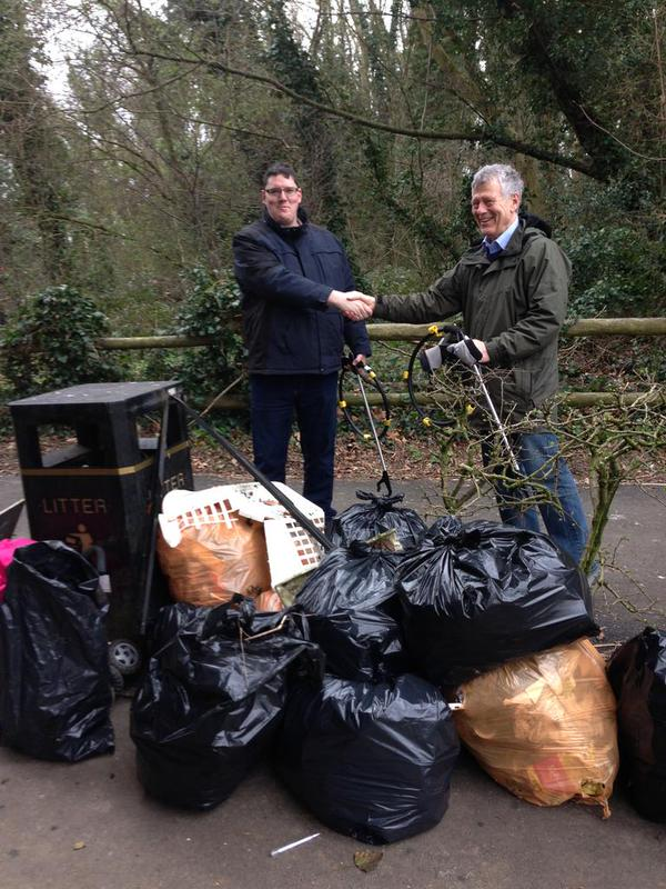 Adeyfield Street Champions litter picking High Street Green & Briery Way Woods