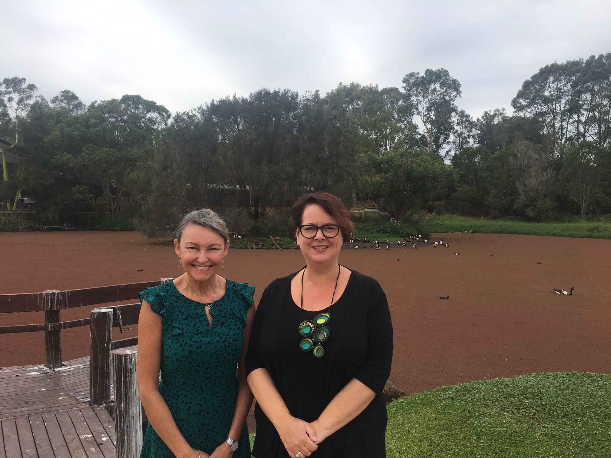 Penny_Sharpe_with_Sonia_Hornery_at_Hunter_Wetlands.JPG