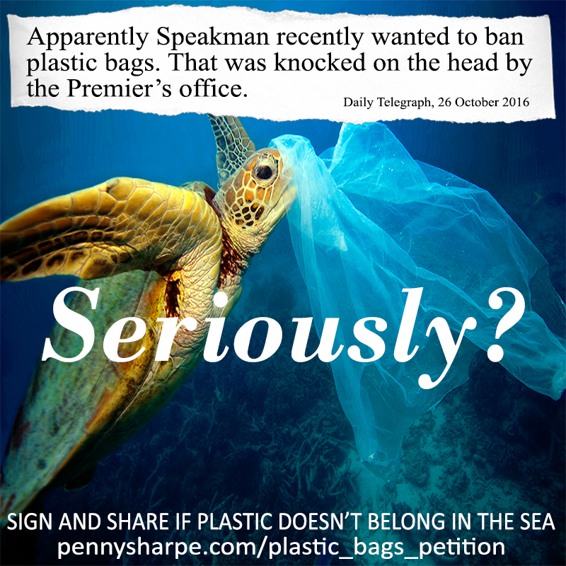 Click here to sign the petition to ban plastic bags