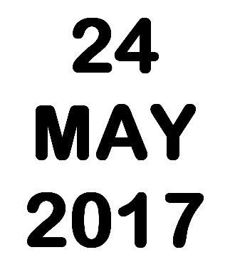 24 May 2017