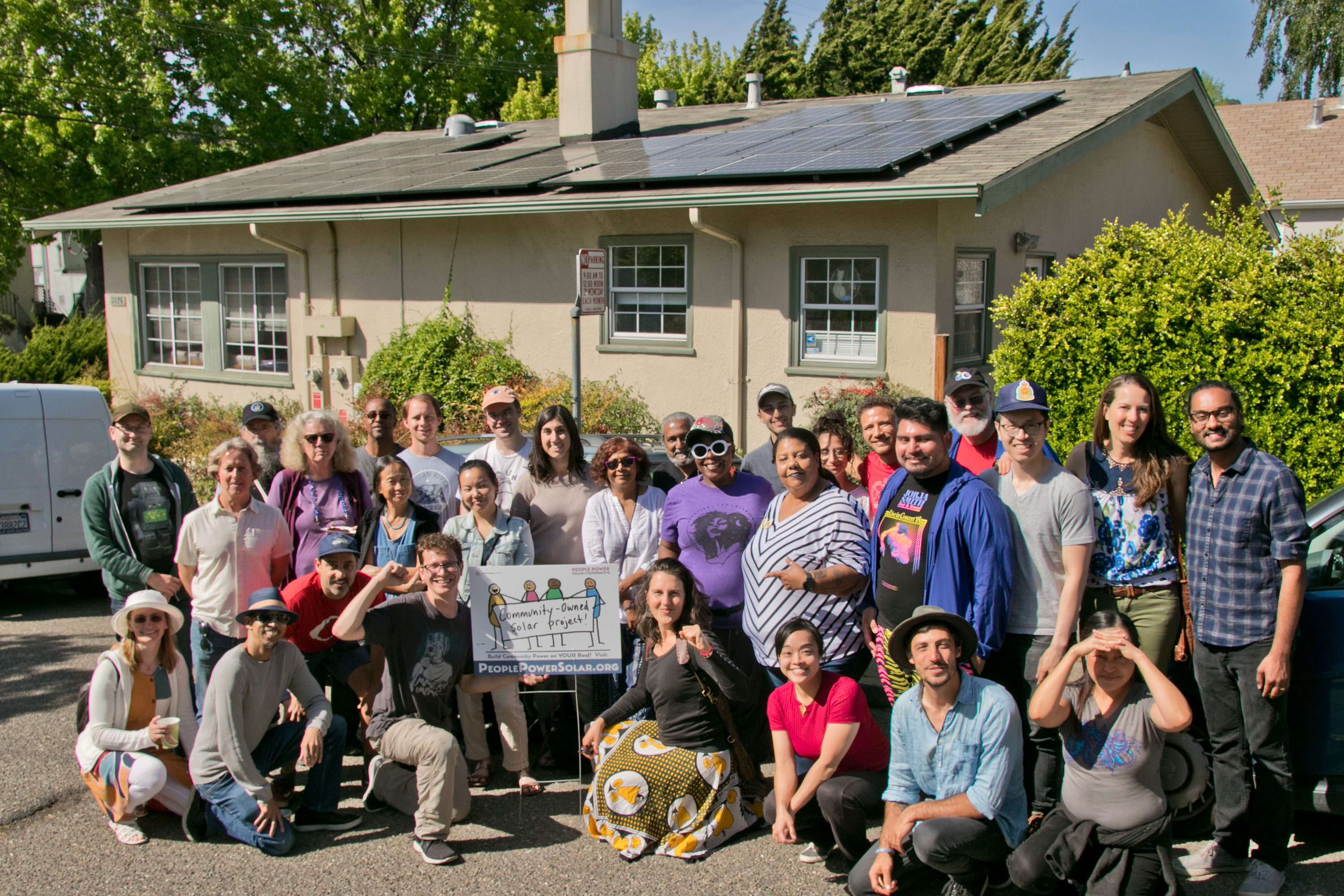 Picture of People Power's pilot solar project.