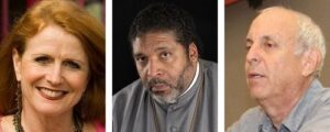 Jodie Evans, William Barber, and Larry Cohen