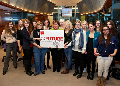 ECOSY members and PES Women President Zita Gurmai