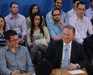 meeting with Joseph Muscat - European Youth Guarantee