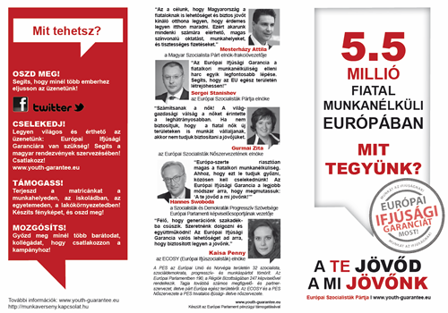 Hungarian leaflet - European Youth Guarantee campaign
