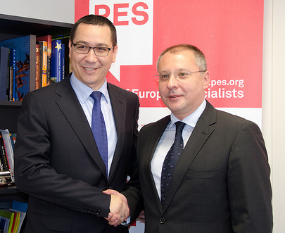 Ponta and Stanishev - European Youth Guarantee campaign