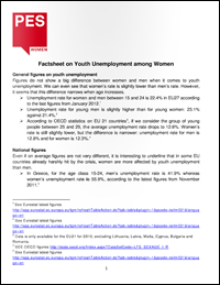 PES Women factsheet - youth unemployment among women
