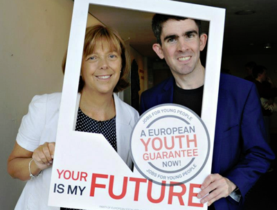 Emer Costello MEP and Cllr Padraig McLoughlin