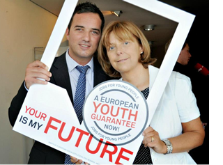 John Lyons - Emer Costello - European Youth Guarantee campaign