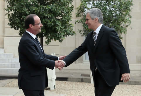 François Hollande and Werner Faymann - European Youth Guarantee