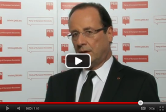 French President François Hollande endorses a European Youth Guarantee