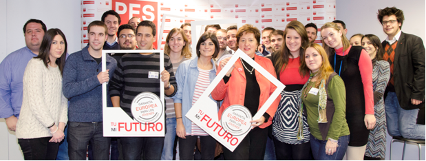 Spanish youth and Zita Gurmai campaign for a European Youth Guarantee