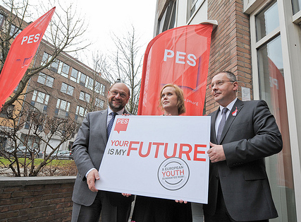 European Youth Guarantee campaign - Schulz, Stanishev, Penny