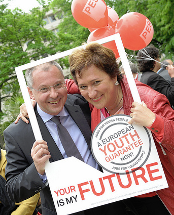 Sergei Stanishev, Zita Gurmai - European Youth Guarantee campaign