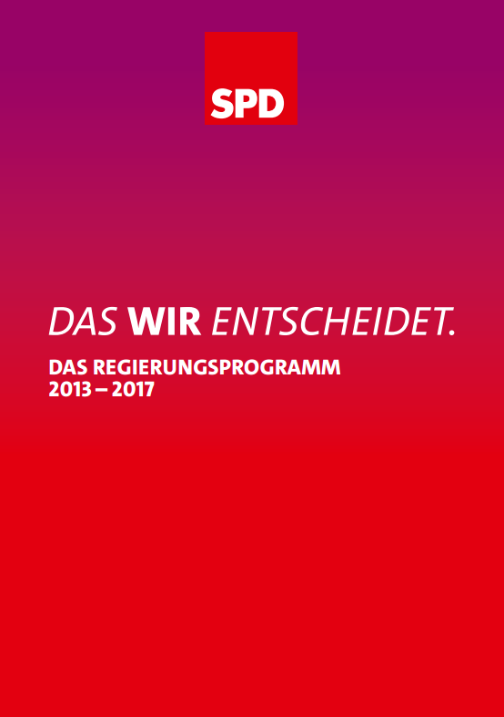 SPD manifesto - European Youth Guarantee