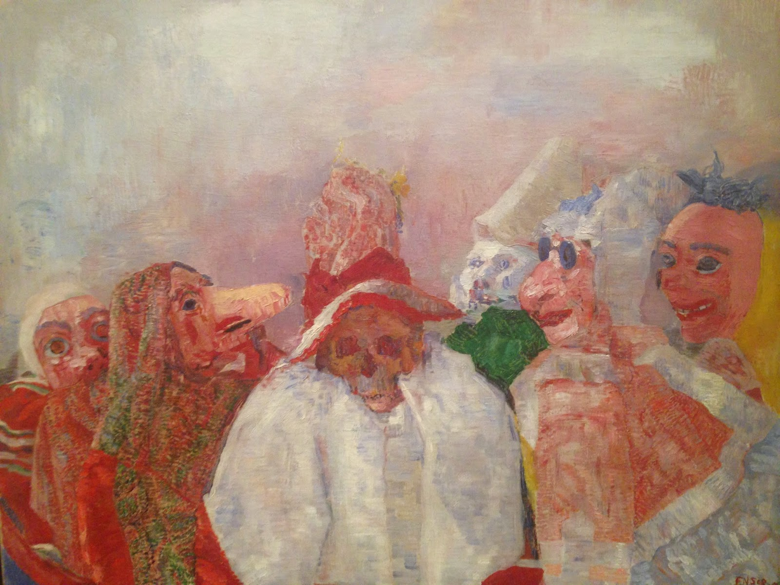 """Masks Confronting Death"" James Ensor, 1888"