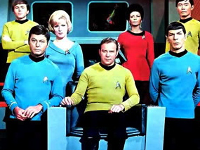The handsome crew of the Starship Enterprise