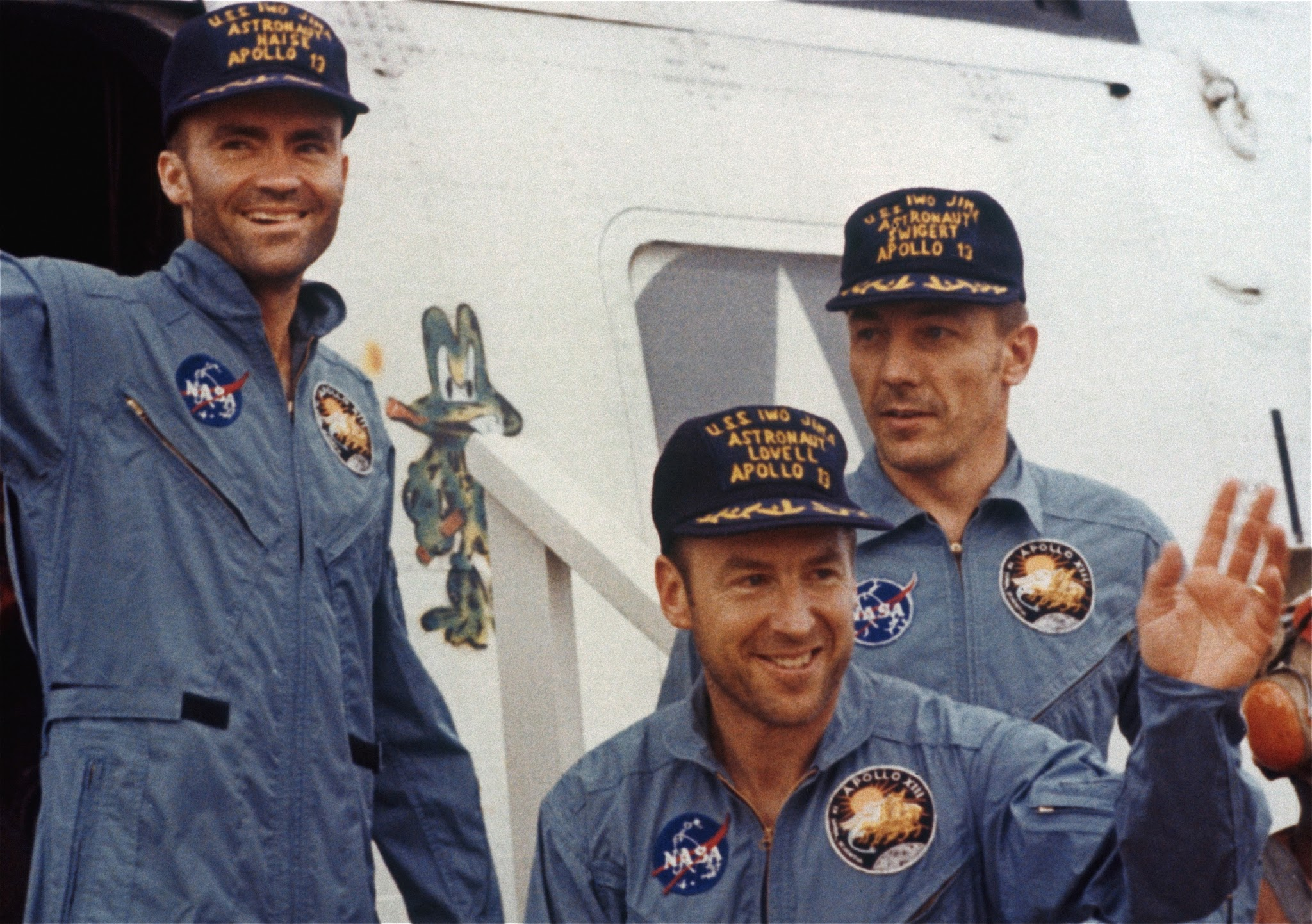 The heroic crew of Apollo 13