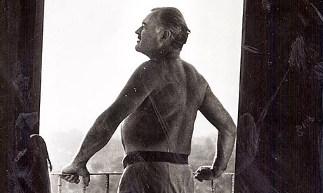 Ernest Hemingway at his Cuba farmhouse.