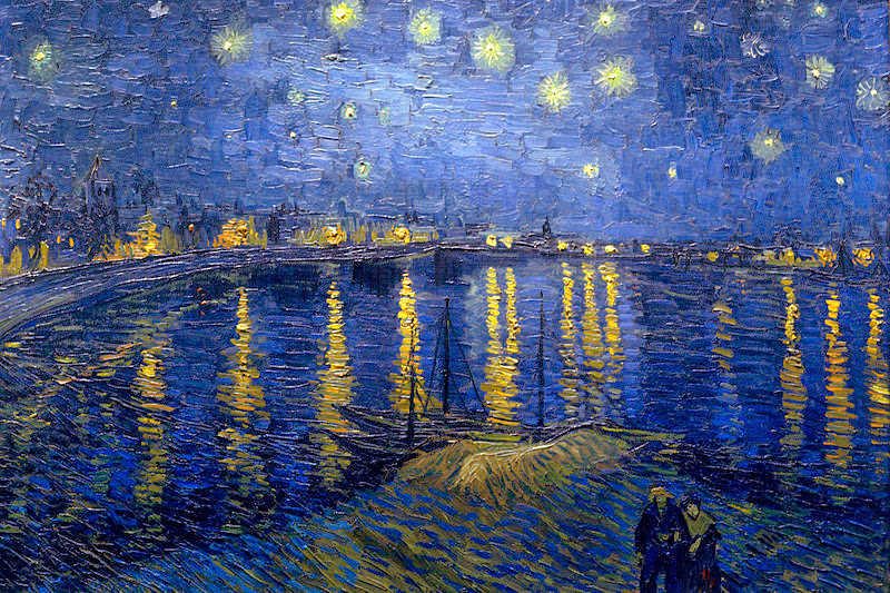 """Starry Night over the Rhone"""