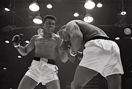 Cassius Clay takes the heavyweight title, February 25, 1964.