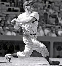 Mickey Mantle of the New York Yankees.