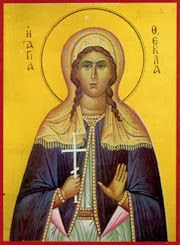 Namesake St. Thecla, the first female martyr.