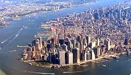 The island of Manhattan, where we had a business office and apartment.