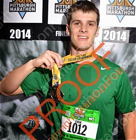 … And Erik after running his first marathon this month.