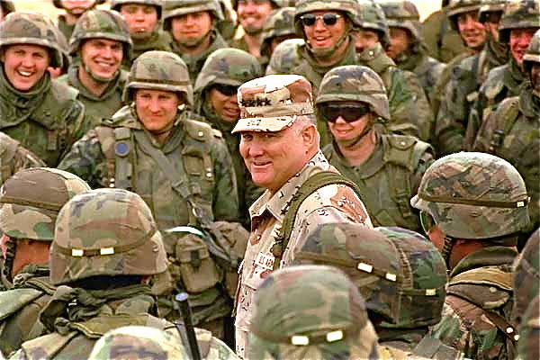 General Norman Schwarzkopf during the first Gulf War.