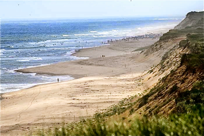 Wellfleet's ocean beaches are part of the Cape Cod National Seashore.
