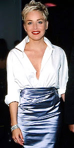 Sharon Stone's white Oscars shirt.