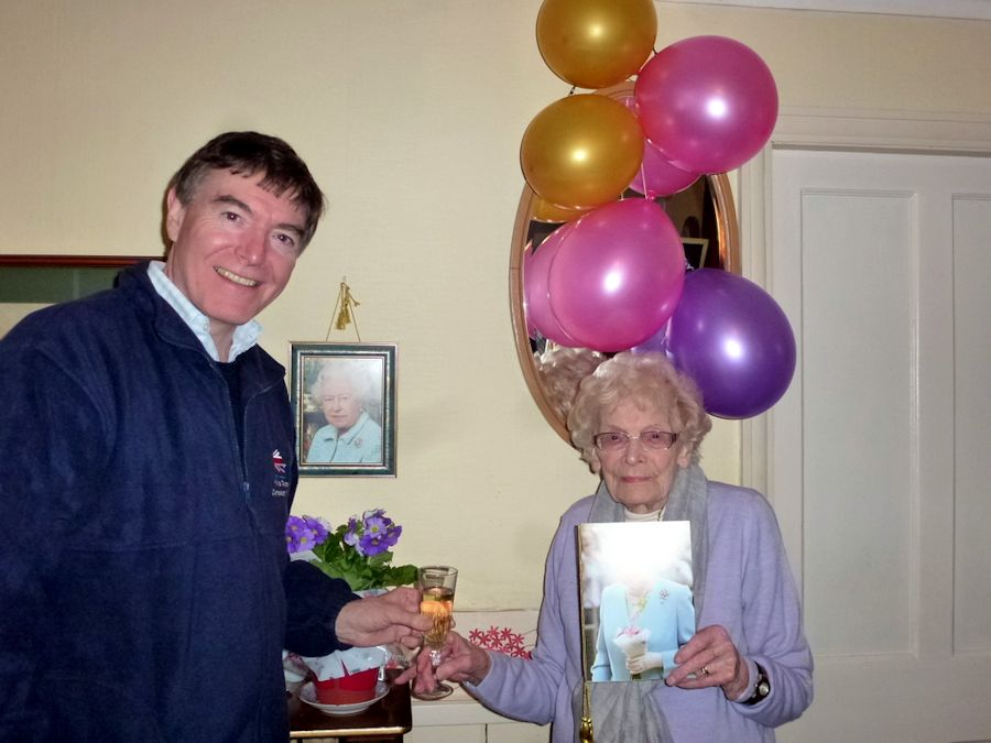 Philip Dunne with 105-year-old Florence Chadd