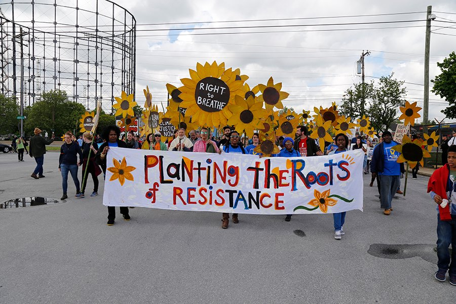 Planting the Roots of Resistance at the gates of the refinery.jpg