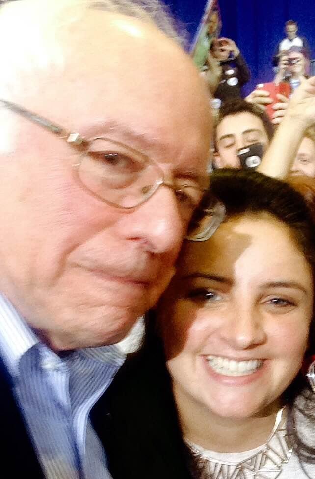 Bernie Sanders and Sophia Geffen