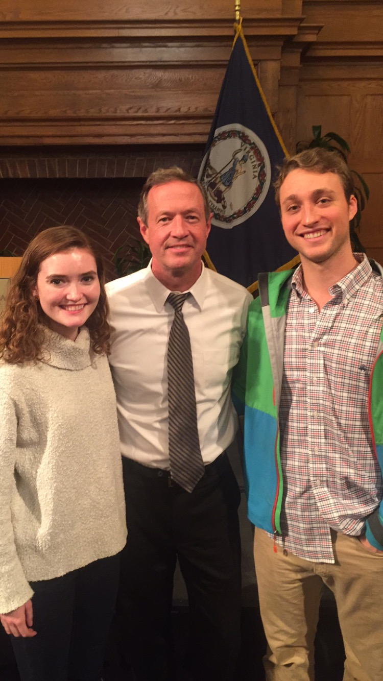 Michael Novack, Erica Miller, and Governor Martin O'Malley
