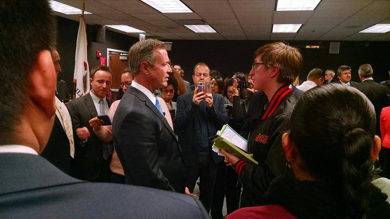Egle meeting Martin O'Malley