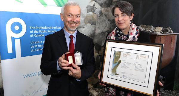 Dr. John A. Percival and Debi Daviau