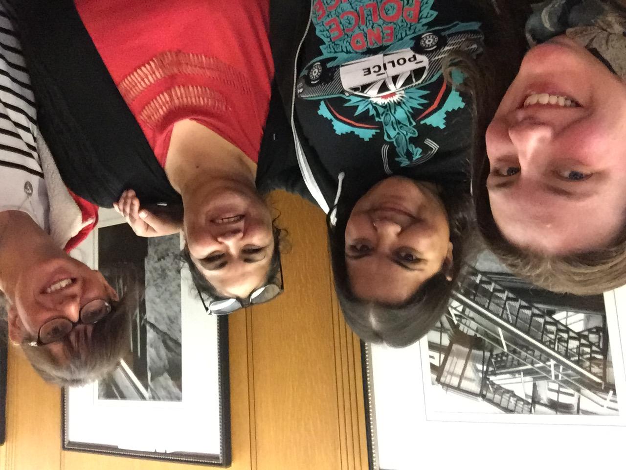 Photo, from left to right: Lyndsay Watson (Pivot), Meenakshi Mannoe (Pivot), Flora Munroe (VANDU), Fiona York (C-CAP) | (December 3rd, 2019)
