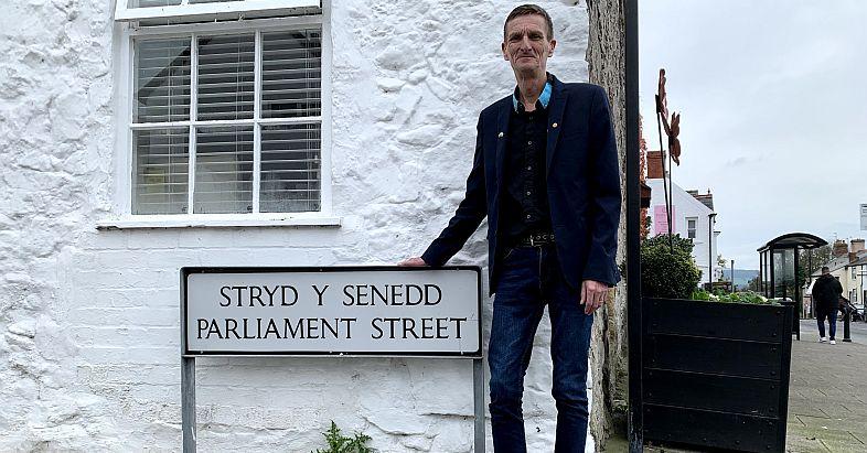 Glenn Swingler in Parliament Street, Rhuddlan