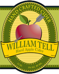 William Tell Cider - bottle label