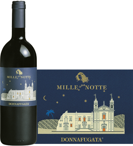 Bottle (and label) of 2008 Donnafugata Mille e una Notte Contessa Entellina Ross DOC