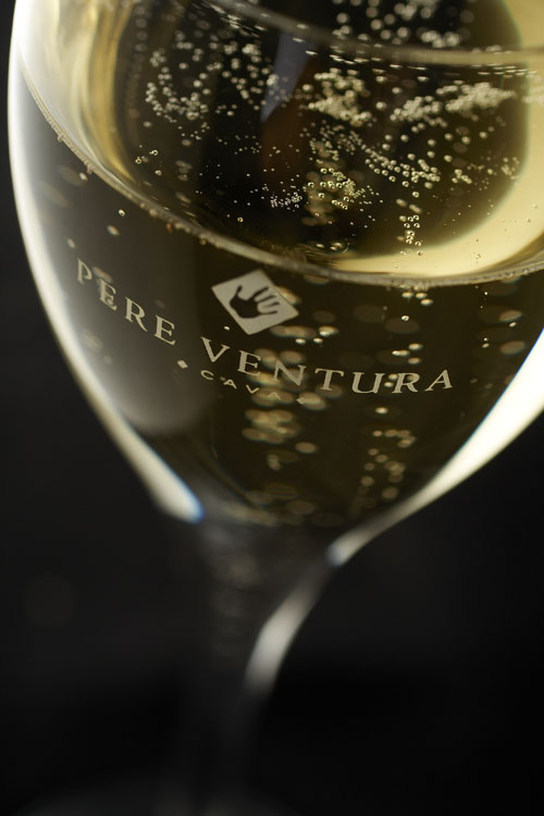 Sparkling glass of Pere Ventura Cava