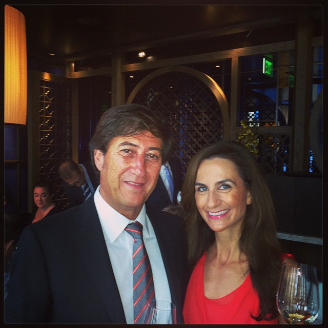 Pere Ventura with Monique Soltani of Wine OH TV