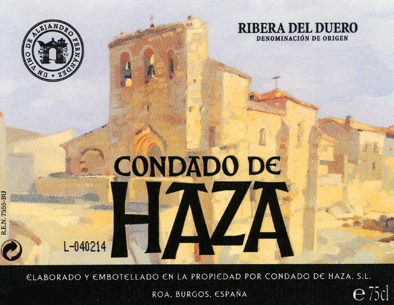 Wine Bottle Label - Condado de Haza 2010