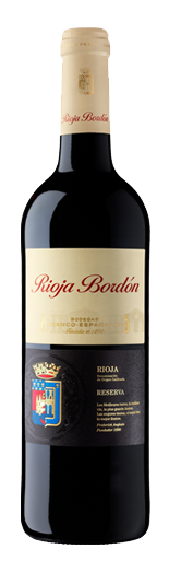 Bottle of Rioja Bordon