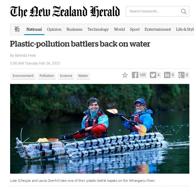 Plastic Bottle Kayak Herald