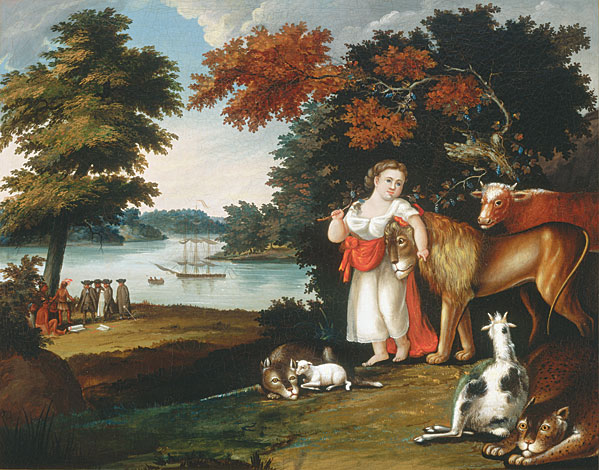 The Peaceable Kingdom by Edward Hicks. Courtesy of the NMWA