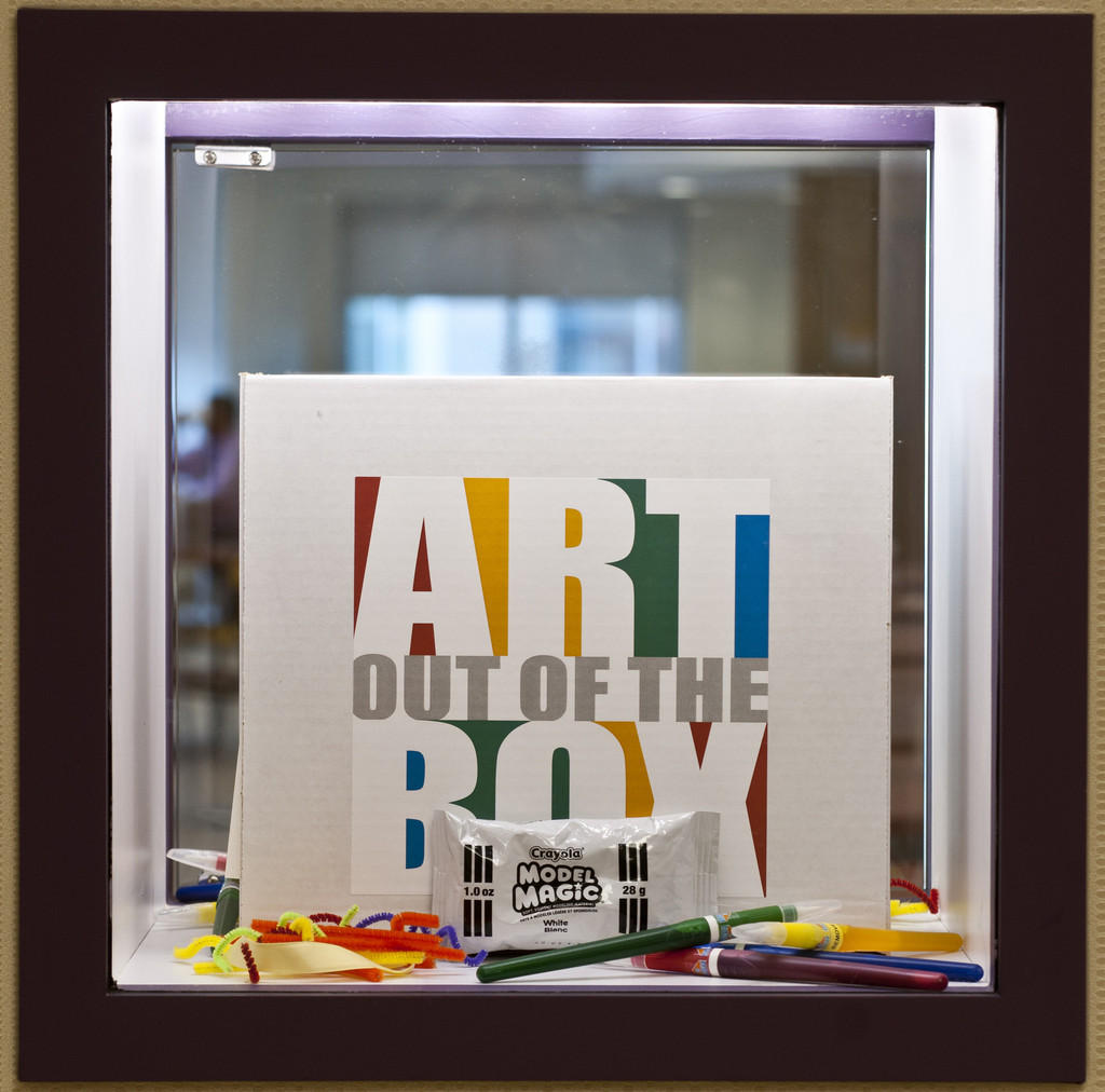 An Art Out of the Box kit from the Children's Hospitals and Clinics of Minnesota.